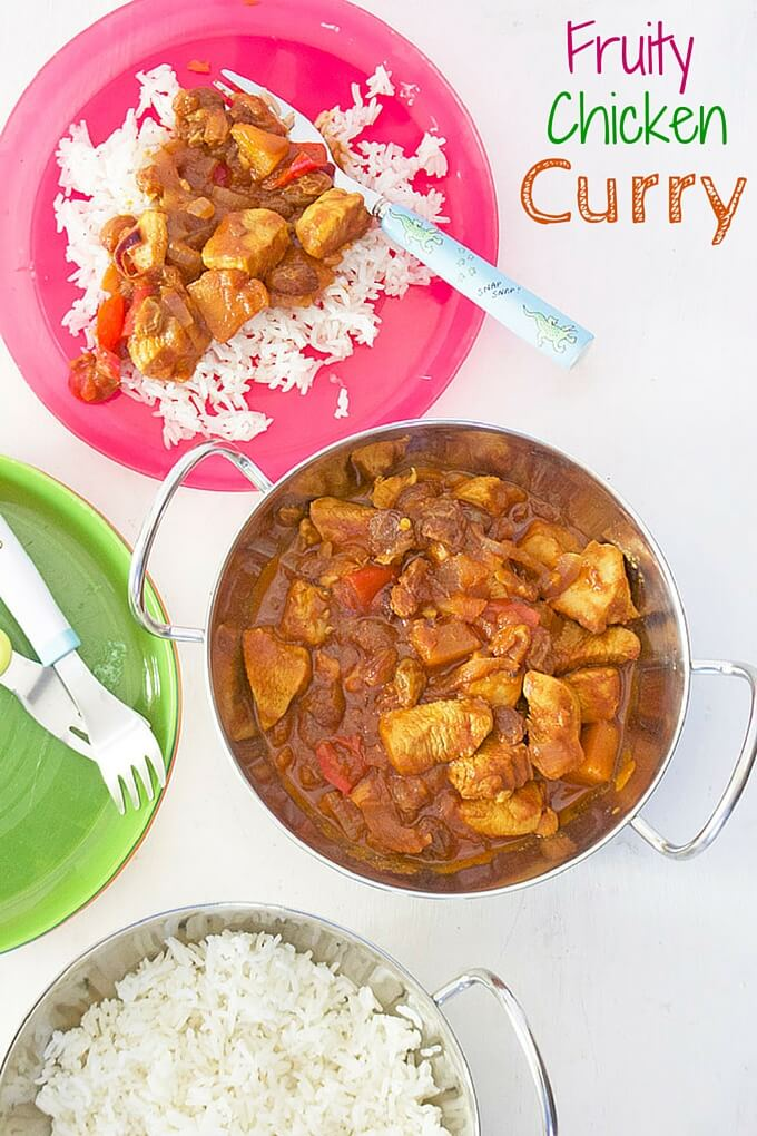 Fruity Chicken Curry great for kids