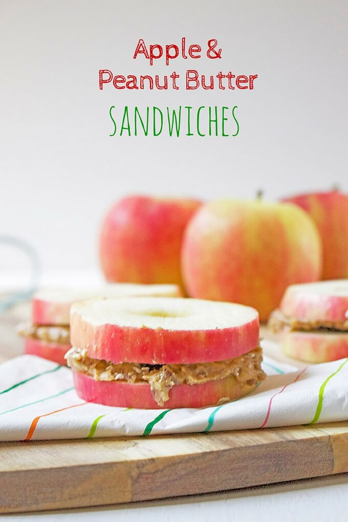 Apple Peanut Butter Sandwiches make the perfect after school snack ...