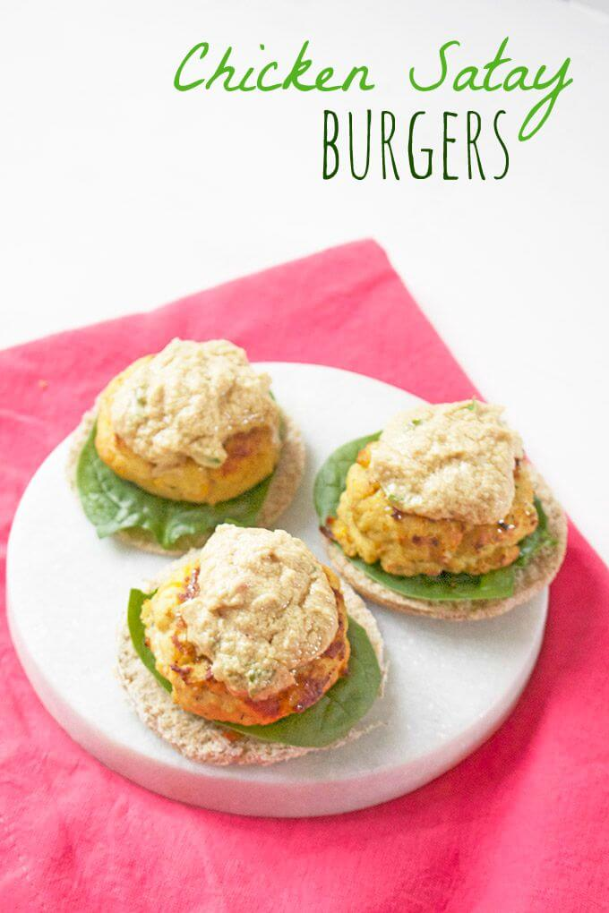 chicken satay burgers