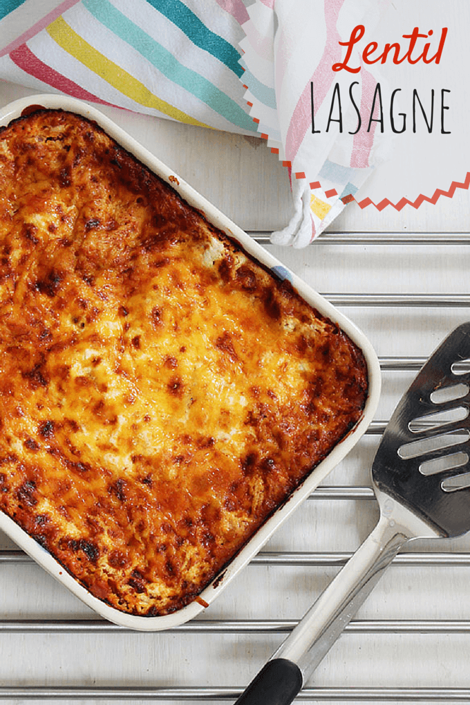 Red Lentil lasagne