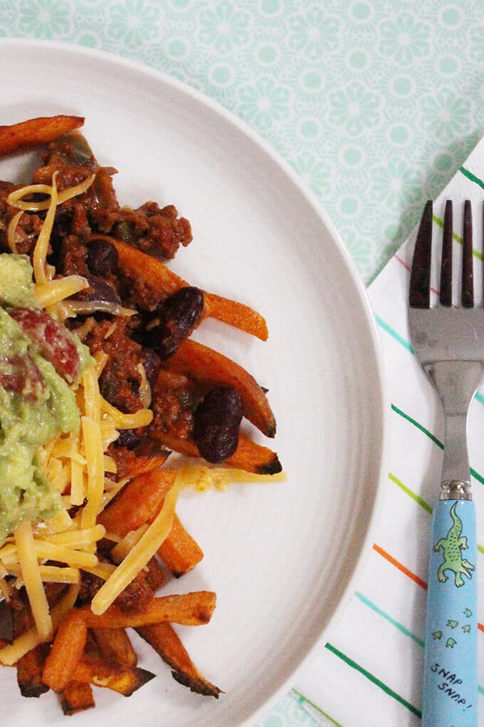 healthy chilli cheese fries