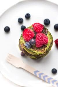 Green Smoothie Pancakes