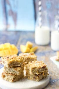 Coconut Mango Oat Breakfast Bites