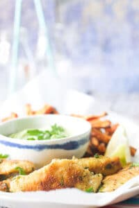 Fish Fingers with an Avocado Dip