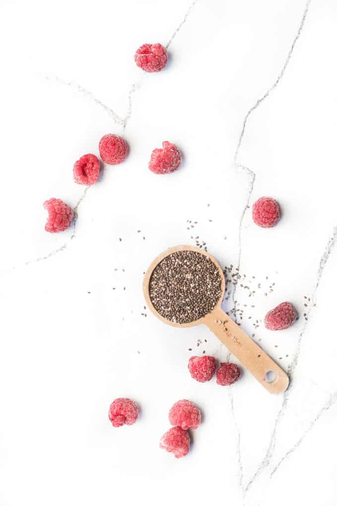 This easy chia seed jam has only has two ingredients & no refined sugar. A perfect spread for kids. Can be used on toast, yoghurt, pancakes & so much more.